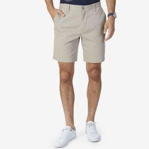 Nautica Classic Fit Stretch 9' Chino Shorts Khaki